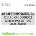 Sello personalizado de Bolsillo Shiny S-723 47x18mm