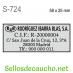 Modelo de sello de bolsillo S-274